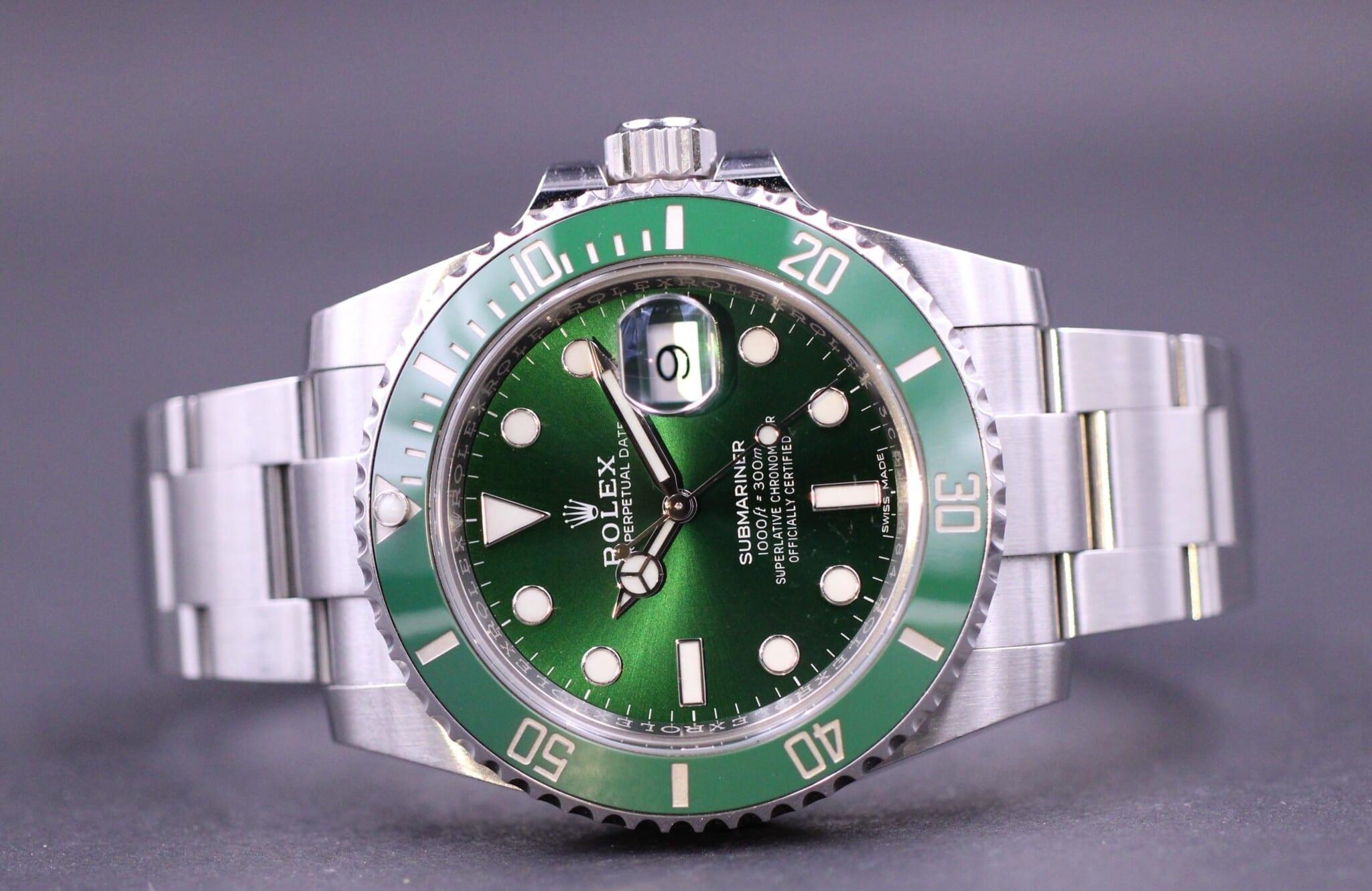 Rolex Submariner 116610lv Hulk Dansk Ad Mm Watches